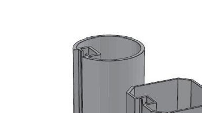 Picture of Alusign Outdoor Circular Post Profile, 1 track