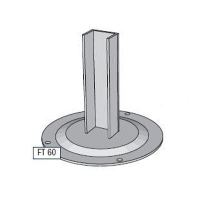 Picture of Alusign Outdoor Foot for Circular Post, 2 track