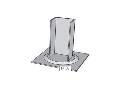 Picture of Alusign Outdoor Foot for Square Post, 1 track
