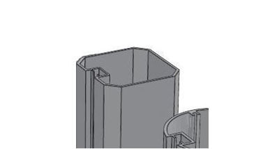Picture of Alusign Outdoor Square Post Profile, 1 track