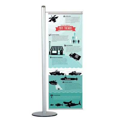 Picture of M&T Displays Free Standing Banner Set - Central Pole with Base