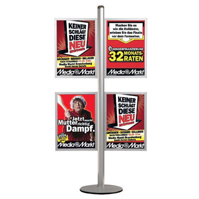 Picture of M&T Displays Free Standing Banner Set - Slide-in Frame