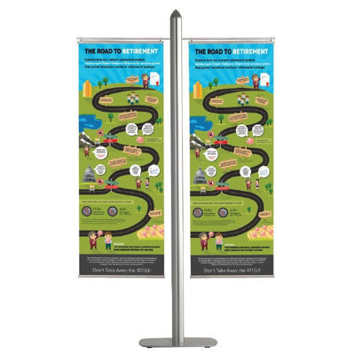 Picture of M&T Displays Free Standing Banner Set - Banner Arms